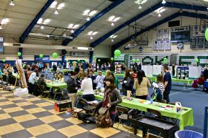 Salina Bowe photo: Many students showed up at the Wellness Fair in the MAC.