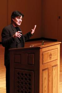 Jill Barrile photo: Poet David Whyte spoke at Mercyhurst College on Sunday as part of the annual Literary Festival.