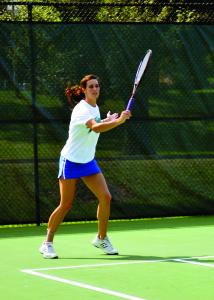 Mercyhurst College junior Kim Ezzo looks to lead the women's tennis team to a first-round victory.