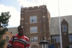 Abdi hopes to finish his education and get U.S. residency to bring take the rest of his family out of Somalia.