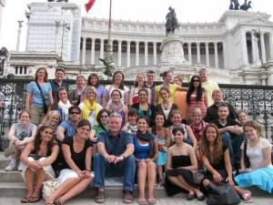Contributed photo: Thirty Mercyhurst College students along with professors Daniel McFee and James Snyder traveled to Italy and Greece after taking philosophy and religion courses.