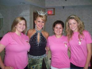 Devore's friends accompanied her to the Miss Greater Johnstown Pageant to show their support.
