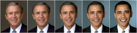 Ultrabrown.com: President Bush  morphing into President Obama perfectly displays the points Kubica makes in this article.