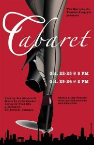 "The Mercyhurst Theatre Program kicks off its third season with the showing of the classic musical ""Cabaret"" in Taylor Little The: facebook.com/MercyhurstUniversityTheatreProgram photo"