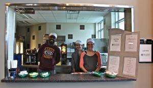 Salina Bowe photo: Hospitality Management majors work together to supply food for students at the new location for Cafe Diem.
