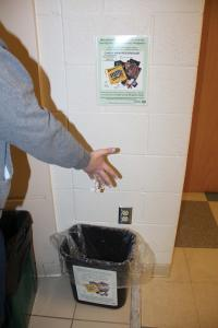 Taylor Rollins photo: The candy wrappers students donate will be reused for new products thanks to Sustainability.