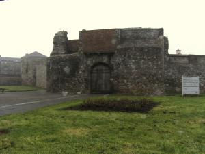 Dungarvan has historic buildings all around such as this castle