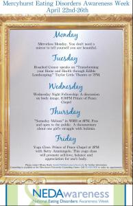 Contributed photo: Poster displays events planned for the Awareness Week.