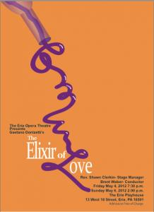 Contributed photo: The Elixir of Love will be performed at the Erie Playhouse and is free and open to the public.