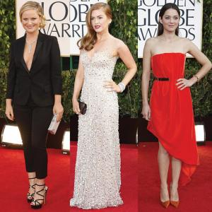 www.goldenglobes.org photo: Amy Poehler, Isla Fisher and Marion Cotillard were best dressed at the 2013 Golden Globes.