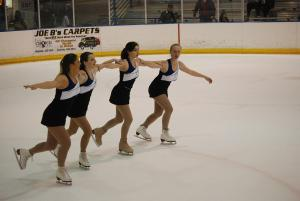 The Mercyhurst Ice Girls consist of four women from the ice skating club on campus. These students perform at men's and women's: Jake Lowey