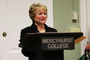 Sarah Hlusko photo: Lee Belovarac, Ph.D. speaks at the Oct. 17 Business Club event.