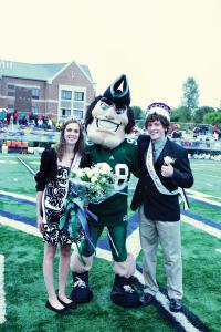 Jill Barrile photo: Lindsay Cox and Shane McCabe were voted royalty Saturday.