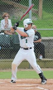 Sports Information photo: Senior Shane Latshaw leads the team with nine home runs for the year. He has been one of the most consistent Lakers, hitting .371 and starting 96 of a possible 98 games the last two seasons.