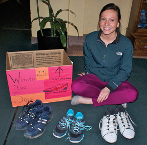 mercyhurst.edu photo: Marissa Zastawa raised a total of 150 pairs of shoes for various organizations in Erie.
