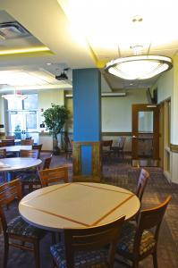 Zach Dorsch photo: The Marriott Café is the new location of the previous Grotto dining room.