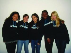 Marta Baran, far right, at the UNICEF Campus Initiative Leadership Summit in New York City.