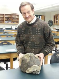 Sami Rapp photo: McKenzie teaches geology to students at Mercyhurst.