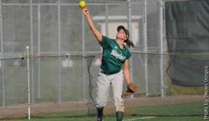 Maier can bunt the ball left-handed, making her invaluable for the Mercyhurst College baseball team
