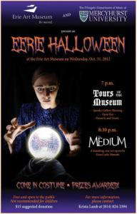 "Steve Perkins Photo: Mercyhurst Alumna, Lynn Dula, portrayed the haunting character of Madame 'Baba' Flora in ""The Medium"" on Halloween."