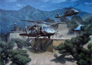 Contributed photo: 'No Safe Haven' will hang in the U.S. Army Aviation Museum. The painting was created by artist Larry Selman.