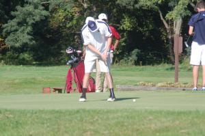 Sydney Cuscino photo: Pilarski ends a hole at the Clarion University Invitational.