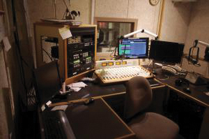 Contributed photo: WMCE offers the opportunity for students and faculty alike to be involved at the radio station located in the basement of Baldwin Hall.