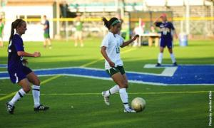 Senior Janine Wong scored the Lakers one goal during their game against East Stroudsburg Saturday Sept. 20. This is Wong's third: Jennifer White