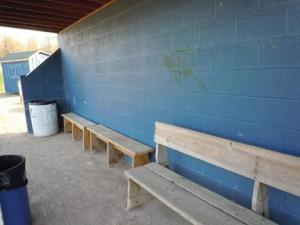 Caitlin Kelly photo: With graffiti in the dugout and a rock-filled infield, the team will welcome the changes with open arms.