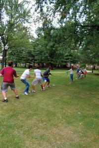 Salina Bowe photo: During Spirit Week students participated in a tug-of-war.