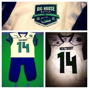Mercyhurst's football uniforms for Saturday's game in Michigan: @MercyhurstFB photo