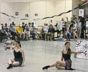 Salina Bowe photo: Students perform at the Black and White Salon, held in memory of former Dance major Jenni-Lyn Watson.