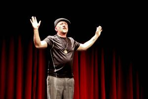 Sean Dougherty explained how music influences his poetry.: Nhi Tran photo