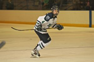 Emily Janiga makes her way past center ice: Ed Milliard photo