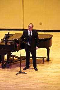 Zachary Dorsch photo: Brent Weber presented his recital entirely in German, a language full of expressive music.