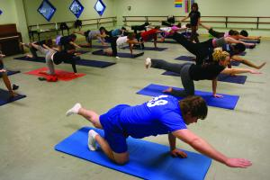 Amatangelo teaches yoga every Thursday at 7:30 in the Rec Center.