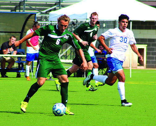 Junior defender, Michael Dirienzo (6), attempted one shot during Mercyhurst's 3-1 loss to Notre Dame College on Saturday.  This set the Lakers record to 0-2 on the season.