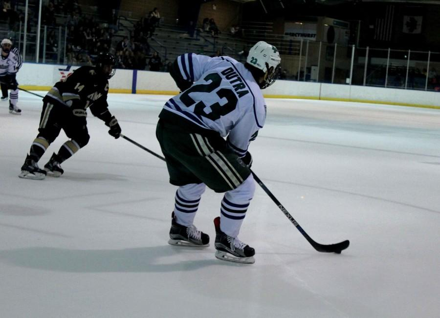 Junior Kyle Dutra (23)  scored into an open net during the Lakers 4-2 win on Friday, Sept. 23 for his first goal of the season.