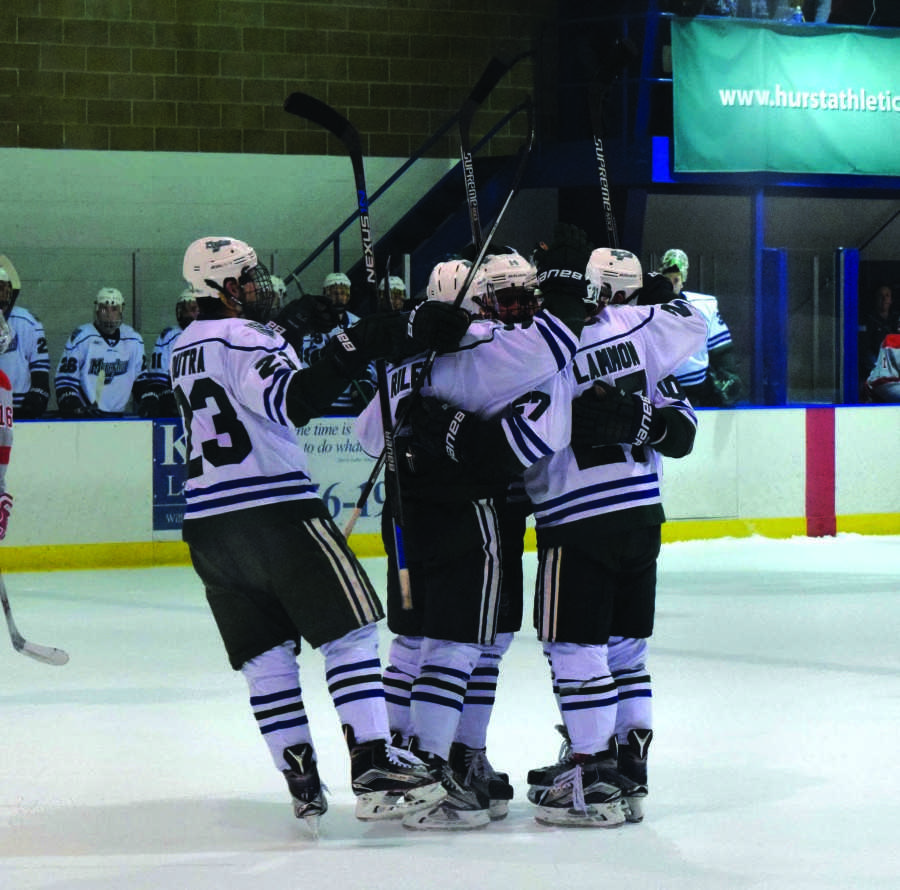 Mercyhurst+got+on+the+scoreboard+first+in+their+3-2+win+over+Sacred+Heart+on+Friday+with+a+goal+by+freshman+Josh+Lammon.