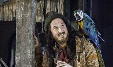 """Arthur Darvill  as Long John Silver in """"Treasure Island""""."""