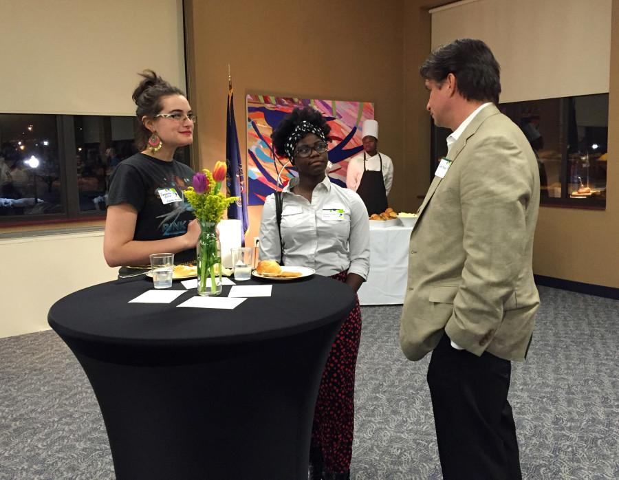 Students interacted with members of the Board of Trustees  at a recent social event.