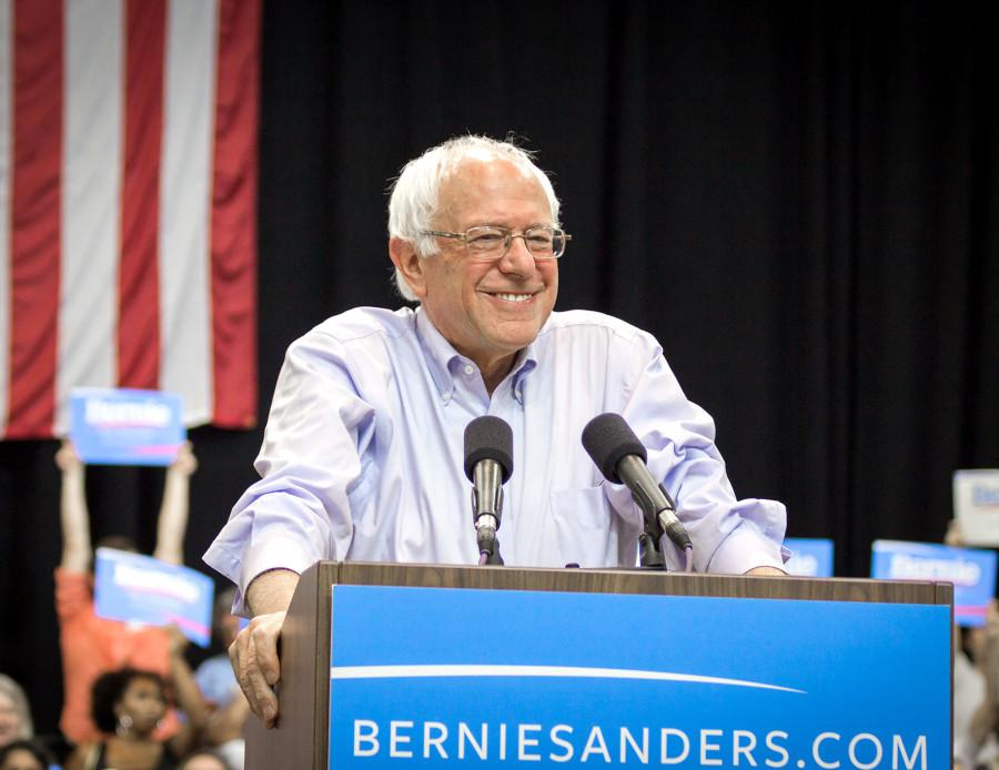 Democratic presidential candidate Bernie Sanders has proven to be very popular among college students.