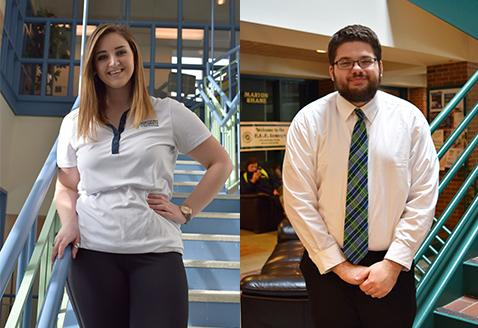 Junior Shannon Holley and sophomore Steven Martz both currently serve on Mercyhurst Student Government. One will become president of MSG for the 2016-2017 school year.