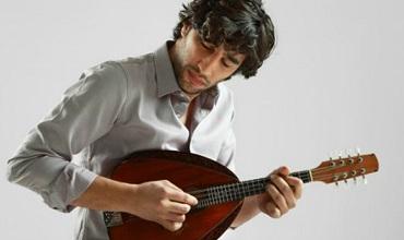 The mandolinist Avi Avital who will perform at Mercyhurst University.