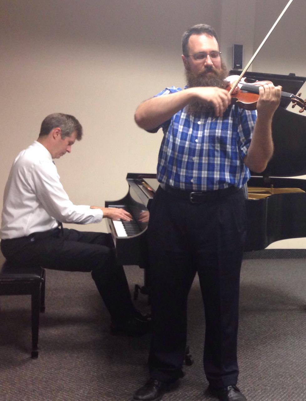 Nathan Hess, D.M.A., and Jonathan Moser, M.M., are two of the performers for the Faculty Collage concert.