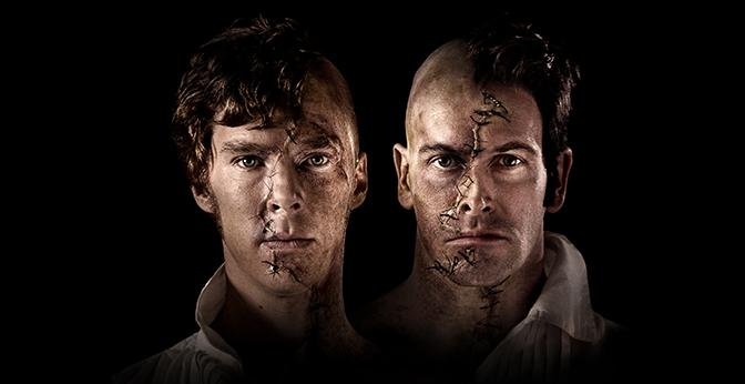 Benedict+Cumberbatch+and+Jonny+Lee+Miller+as+their+alternating+role+of+Frankenstein%E2%80%99s+creation.+