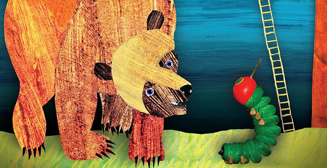 The main characters Brown Bear and the Caterpillar from their respective stories will come to life on stage.