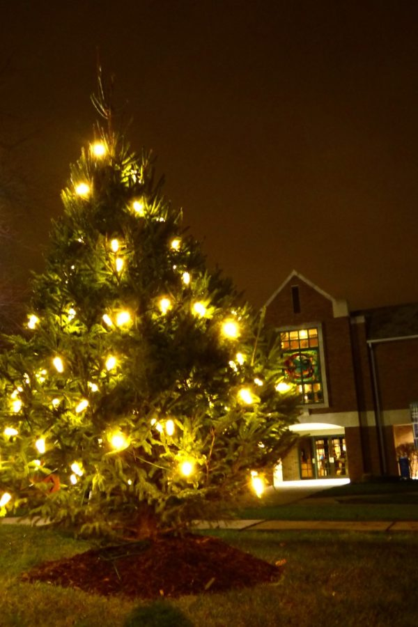 Last+year%2C+the+campus+decided+to+start+a+new+tradition%2C+lighting+a+Christmas+tree+outside.
