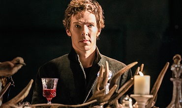 Benedict Cumberbatch as Hamlet in the National Theatre Live rendition of the classic tale.