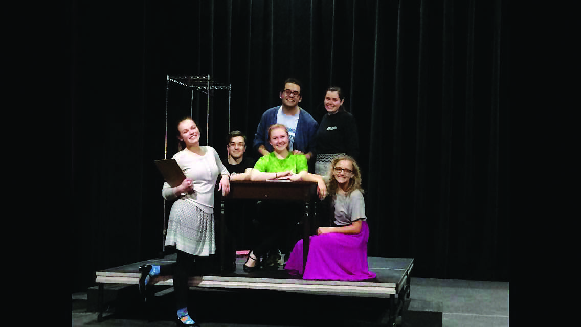 From left to right: Katie Kruszynski, Owen Hitt, Abby Larimore, Cole Lowe, Erin Fink and Charity Ludwig.